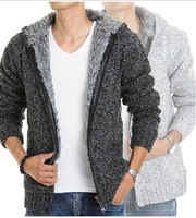 2013 New autumn and winter casual cardigan sweater thick outerwear men's clothing sweater AB-63