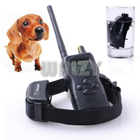 Dog Pet Stop Barking Waterproof Rechargeable 1000M Remoter LCD Display Training Collars with retail package for 1 dog 6pc/lot