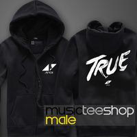 Hot sale New Autumn and winter thickening cardigan sweatshirt male Women dj avicii true