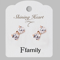 New 2014 selling earrings  zircon real gold plated earring tourism memorial, wedding, employee benefits, birthday