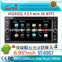 Android 4.0 Toyota Terios/ Fortuner/ Vios/ Avanza Auto DVD GPS Navigation With 4GB flash +3G Wifi +PIP+ Ipod +RDS+ BT