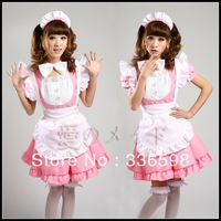 Sweet princess cosplay maid clothes three-color uniforms pink maidservant dress free shipping  japanese fashion popular