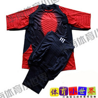 Lungmoon uniforms goalkeeper jersey goalkeeper jersey uniforms deep red o-neck