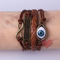 LM-L050 Infinity bracelet,handmade bracelet,Best friend Eye ball bracelet, charm bracelet,gift for friend free