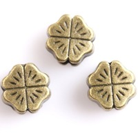 120pcs Carved Clover Heart Mini Vintage Bronze Tone Alloy Charms Space Loose Beads Fit Jewelry Bracelet DIY Handmade 113045
