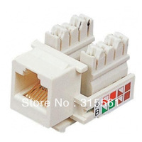Free Shipping  50pcs/lot  RJ45  Network Jack Cat5e/Cat5 Keystone jack