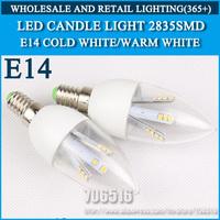 5PCS/lot LED candle light 2835SMD bulb lamp High brightness 3W 4W 5W E14 AC220V 230V 240V Cold white/warm white Free Shipping