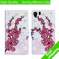 High Quality Flower Pattern Flip Wallet Leather Cover Case For Sony Xperia Z1 L39h Free Shipping DHL EMS CPAM HKPAM FR-10