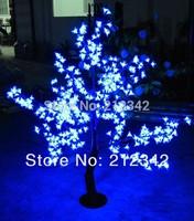 Free shipping 480pcs LEDs Artificial Cherry Blossom Tree Light 1.5m/5ft Height Landscape Lighting Outdoor Christmas Light Blue