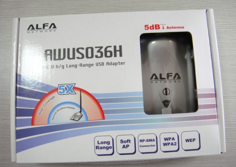 New! Arrival Free shipping High power ALFA AWUS036H 1000mw wi