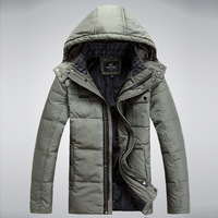 Winter quinquagenarian down coat male short design thickening male down coat winter