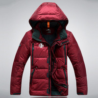 High quality outdoor male short design rlx down coat male thickening men's clothing winter windproof waterproof