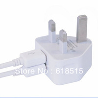 New Universal Uk Plug 2 Dual USB Ports Wall AC Power Charger Adapter chargerl For Tablet PCS Cellphone free Shipping