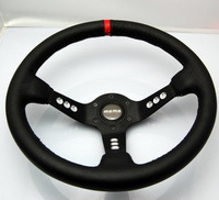 Modified steering wheel momo automobile race steering wheel 13071 genuine leather steering wheel car steering wheel