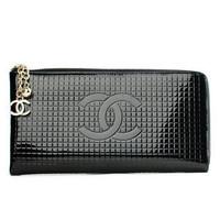 Japanned leather patent leather large wallet women's long zipper design day clutch purse multicolor