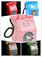 Free Shipping Six Colors Retro Telephone Piggy Bank Creative Gift(bule red brown green white pink)saving box/money box