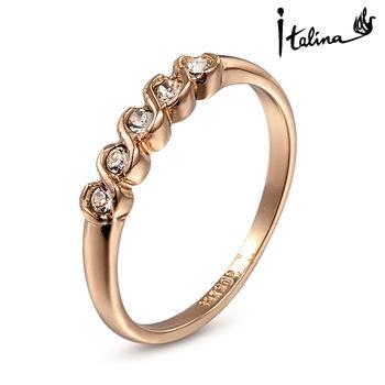 Настоящее Italina Rigant австрия кристалл 18 К позолоченные кольца для женщин к окружающей ...