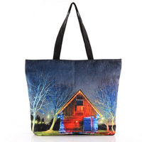 Free Shipping 2013 women fashion Cabin shoulder bag printed reusable shopping bags with zipper #S0365