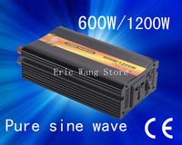 Best quality!!600w/1200W Pure Sine Wave Power Inverter, Solar Inverter, DC 12V/24V to AC 240V(CP-P-600W)