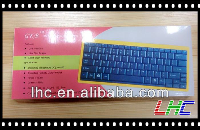 USB PC Slim wired white/black mini notebook laptop keyboard/silent touch keyboard(China (Mainland))