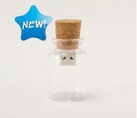 10pcs/lot drift bottle usb flash disk, Wishing bottle USB Flash Drive Wishing bottle usb flash disk