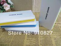 universal portable battery charger  dual usb  power bank 20000mah +usb cable free shipping wholesale 60pcs free shipping