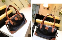 High Quality NB214  2013 Newest Western Style Patchwork Vintage Fashion  Women Handbags  Totes Shoulder Bags  3colors PU