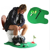 Golf Toilet Bathroom Mini Golf Set Potty Putter Toilet Golf Game putting green