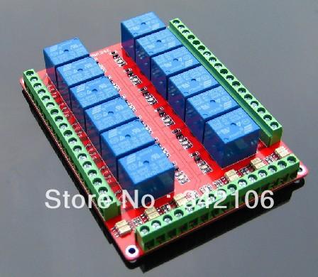 Free Shipping!!! 12 relay control module / bidirectional optocoupler isolation / high-low selectable / 5V/12V/24V Optional(China (Mainland))