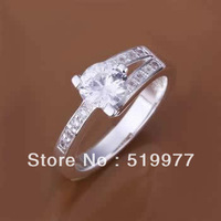 JR164 promotion lowest price Wholesale 925 sterling silver ring jewelry,hot charm fashion jewelry, inset stone dula-line Ring
