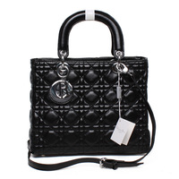 2013HOT!Free shipping  plaid bag japanned leather women's handbag shoulder bag handbag faux square bag