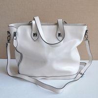 2014 Fashion Rivet Cowhide Paragraph Women Shopping Bags One Shoulder Cross-body Genuine leather Handbag Designer Brand Bolsas