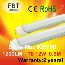High Quality Wholesale CE ROHS 600mm T8 12W Led Tube Light SMD 2835 Epistar 1200LM Lamps(China (Mainland))