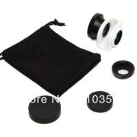 DHL 20Pcs/lot +Free Shipping+ New arrival  triple effects lens for iphone 5,  fisheye wide-angle macro ,with retail packaging