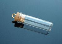 5 pcs Flat Bottom Tube (30MMX8MM,0.5ML),make a wish necklace pendant,Fairy Dust Bottles,perfume essential oil bottle pendant