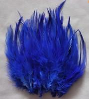 200pcs Beautiful Blue Pheasant Neck Feathers 10-15cm/4-6inche