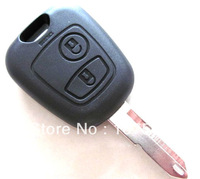 NO logo Remote Key Case Fob for 2 Button Peugeot and Citroen key