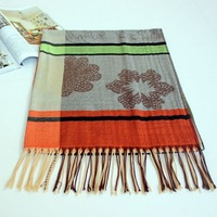 2014 free shipping Ms jacquard tassel scarf designs high-grade square scarf shawl wholesale personality