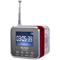 Free shipping  hotsale Portable USB mini speaker NiZHi TT029 with FM radio LED Screen Singapore packet