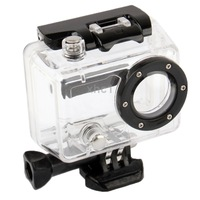 Side Opening Protective Waterproof Case/Lens for GoPro Hero 2 Camera (Black + Transparent)