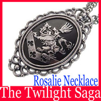 Minimum 10$(Can Mix)American Dramas The Twilight Saga Rosalie Pendant Necklace Movies Jewelry 2pcs/lot