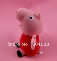 peppa pig toy pink peppa pig plush dolls children Christmas Gift 18cm free shipping 50pcs