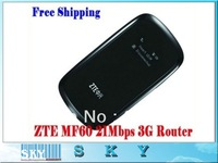 Free shipping ZTE MF60 21.6M WCDMA 3Gwifi wireless 3G modem,wireless router for ipad,i Phone,laptop