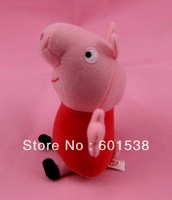 peppa pig toy pink peppa pig plush dolls children Christmas Gift 18cm free shipping 200pcs