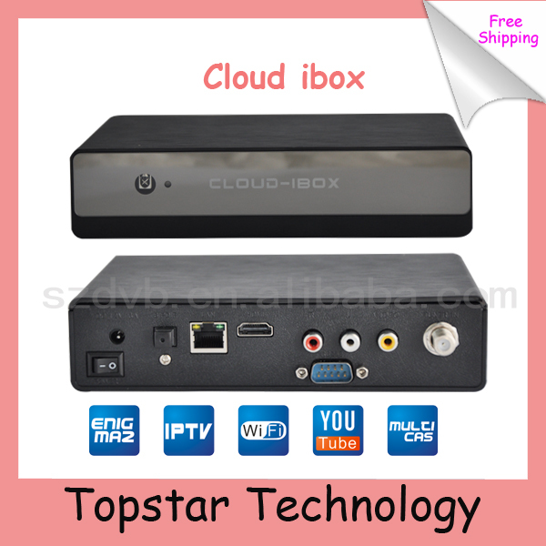 2014 High Quality Cloud ibox Mini Vu+Solo DVB-S2 IPTV+Youtobe Streaming Channels Satellite Receiver Free Shipping (Cloud I box)(China (Mainland))