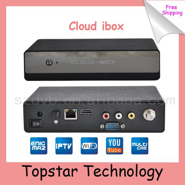 2014 High Quality Cloud ibox Mini Vu+Solo DVB-S2 IPTV+Youtobe Streaming Channels Satellite Receiver Free Shipping (Cloud I box)(China (Mainland))
