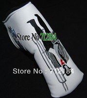Wholesale 2014 NEW THE T Golf Putter HeadCover White Color golf club Cover 1pc/ Free Shipping