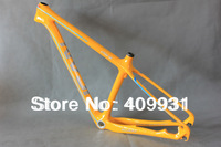 Yellow painting 29er mountain bike frame gray logo carbon bike frame mtb AC039