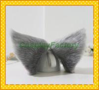 Free Shipping Lovely Maid Party Hair Clip Grey Headwear,Neko Cat Ears,100g/pair