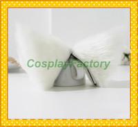 Free Shipping Lovely Anime Cosplay Party Hair Clip White Headwear,Neko Cat Ears,100g/pair